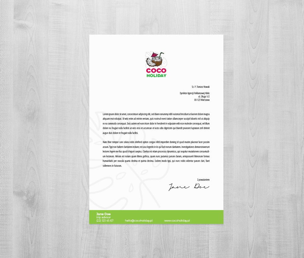 Branding dla biura podróży: papier