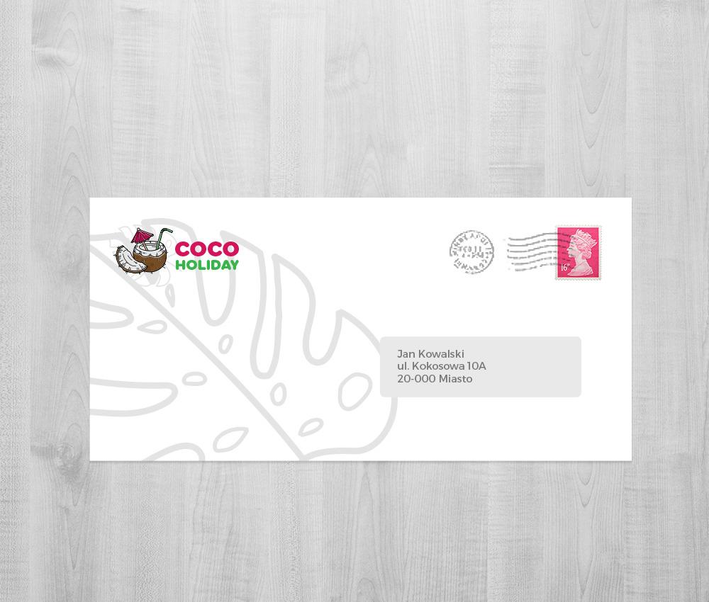Branding dla biura podróży: koperta