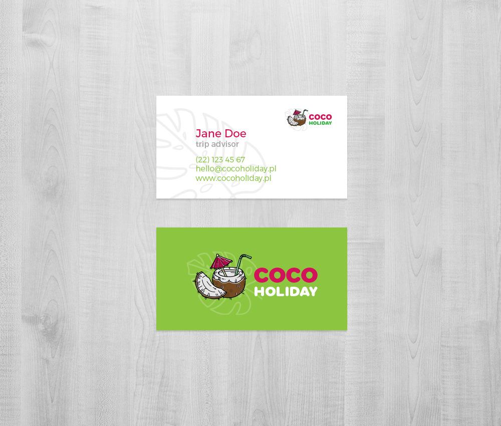 Branding dla biura podróży: wizytówka