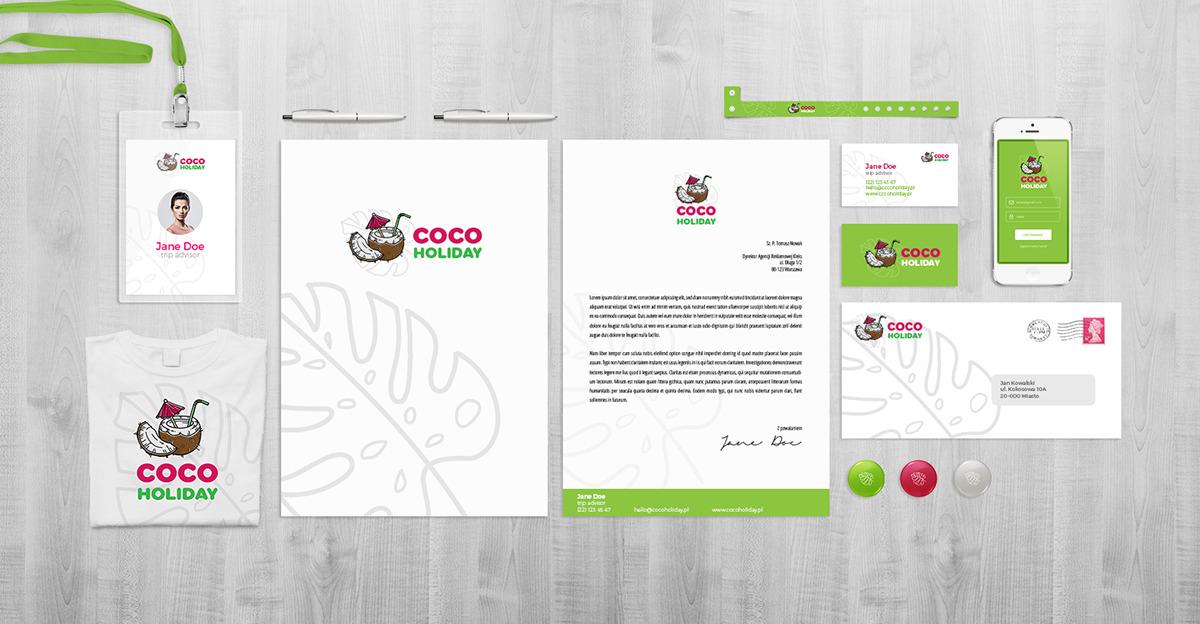 Branding dla biura podróży: papier firmowy