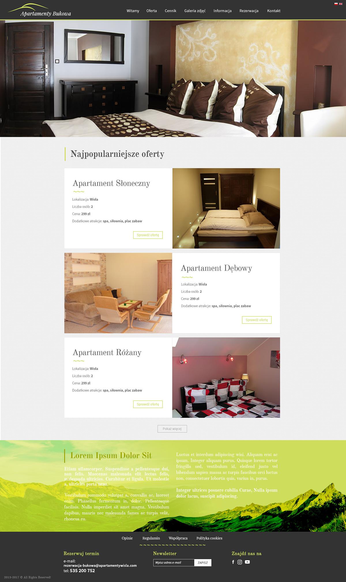 Strona www dla Apartamentów