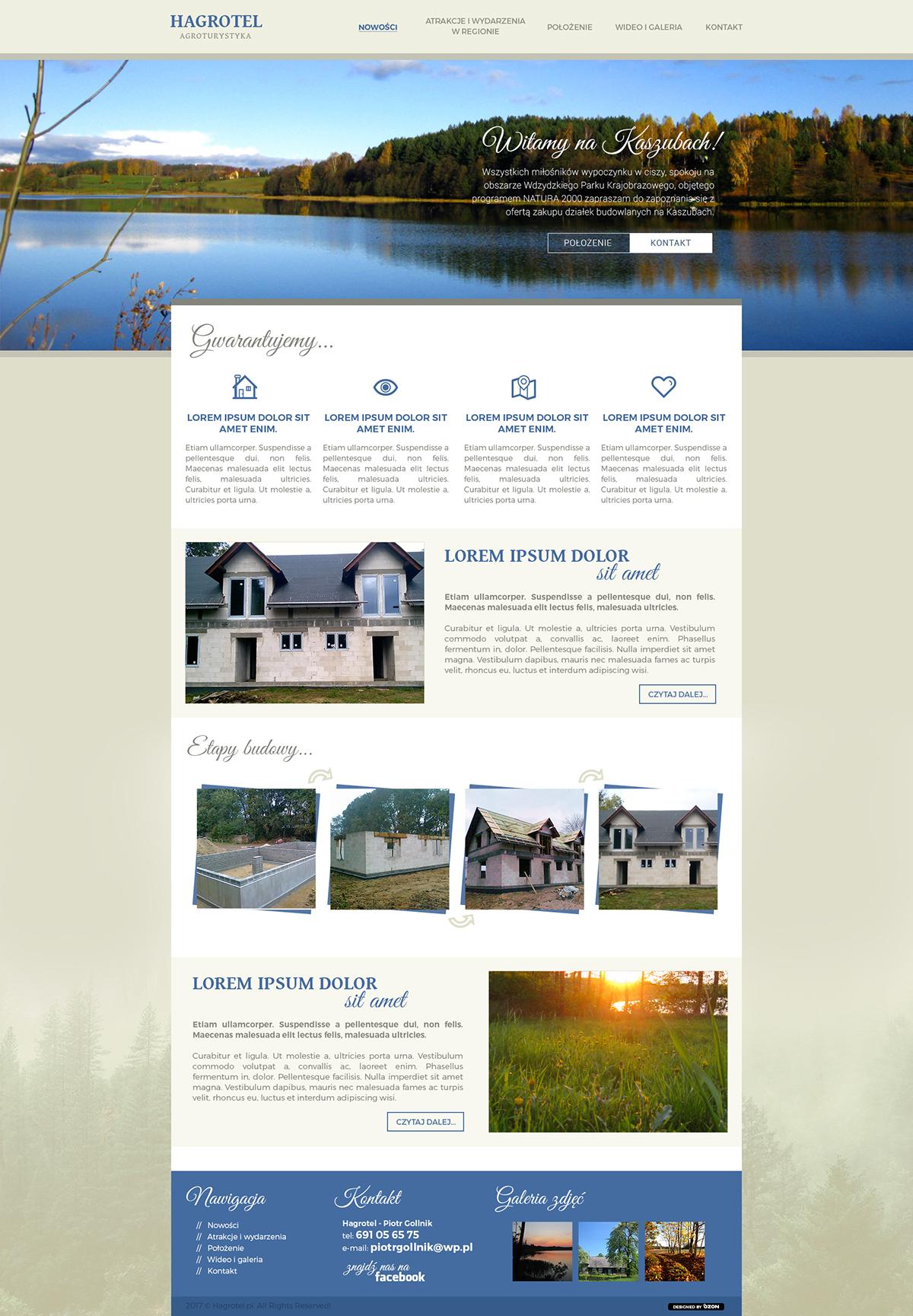 Strona www dla agroturystyki