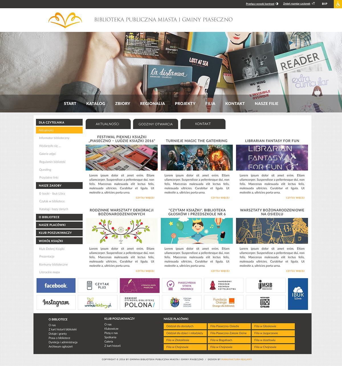 Strona www dla biblioteki