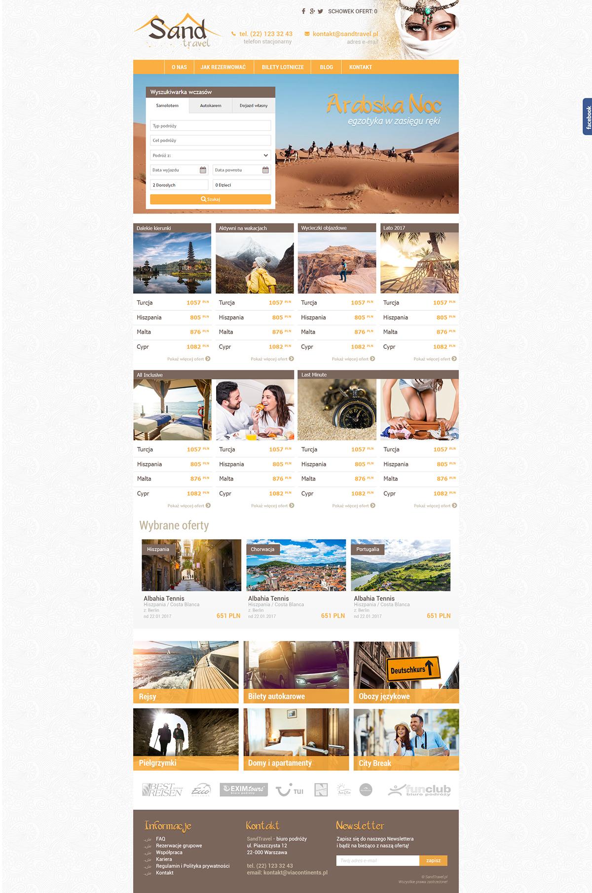 Strona www dla biura podróży