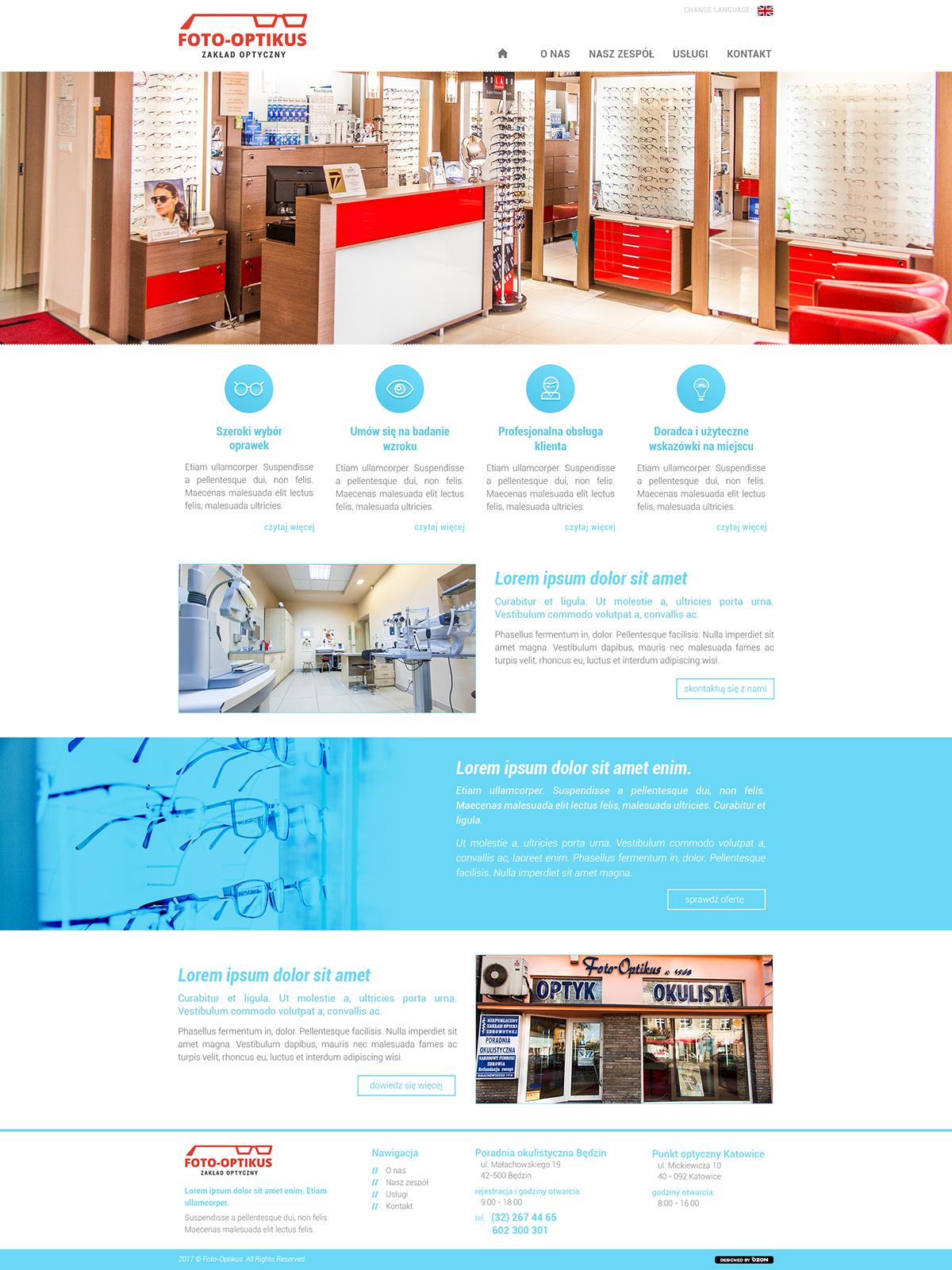 Strona www dla optyka