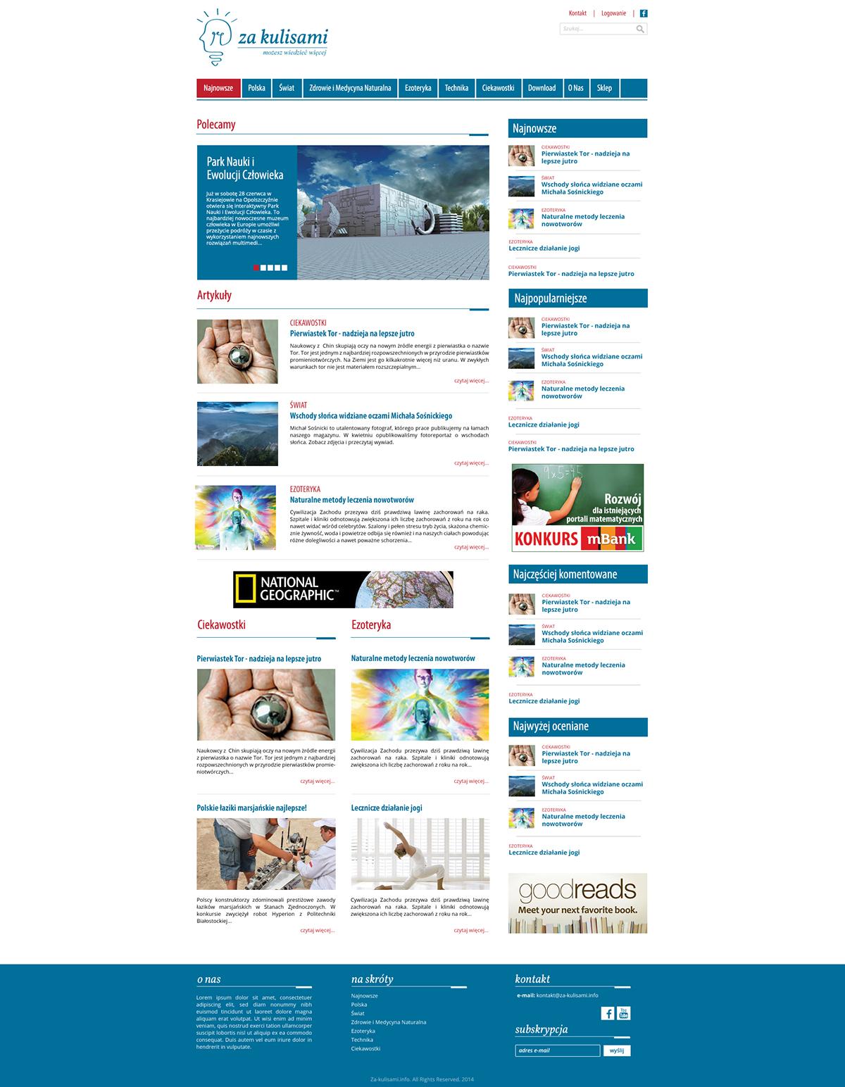 Strona www dla portalu