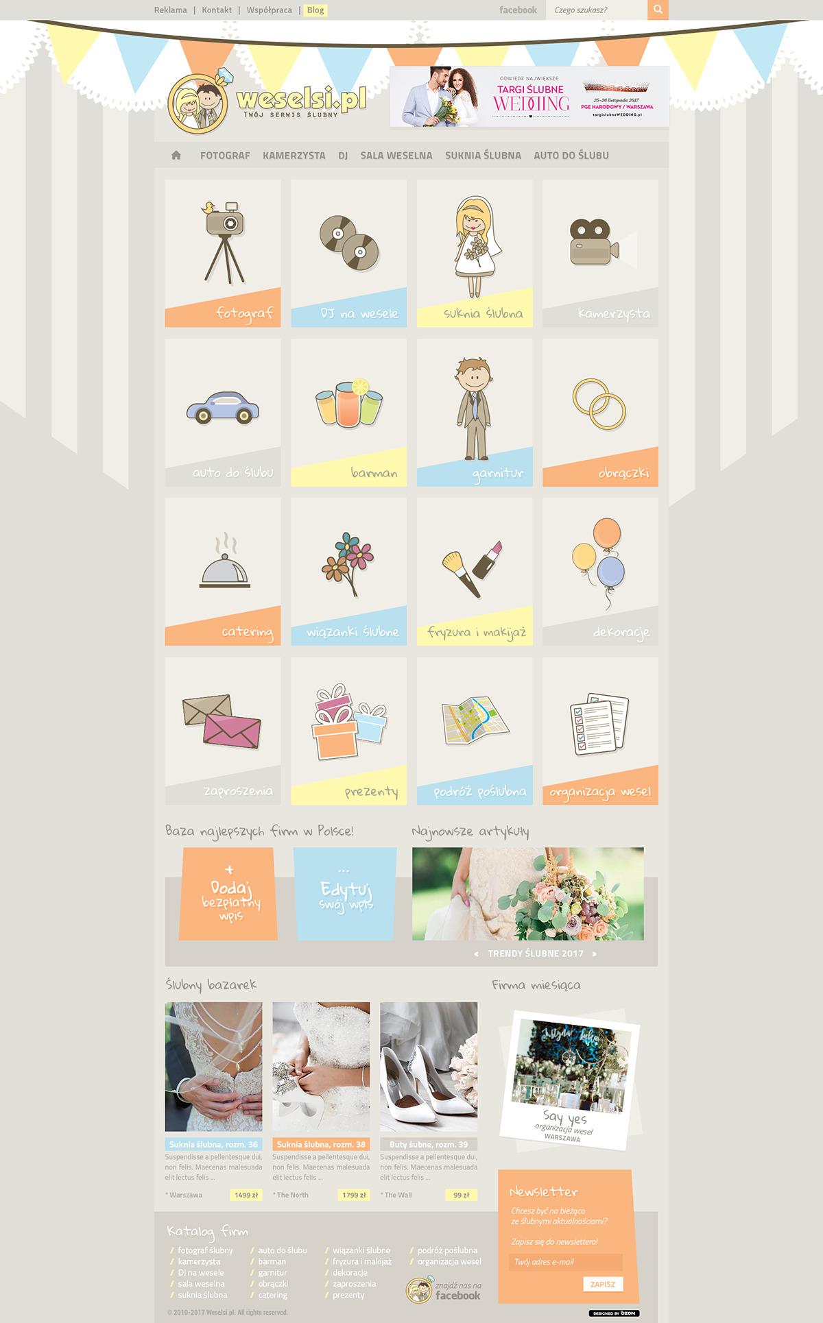 Strona www dla serwisu ślubnego