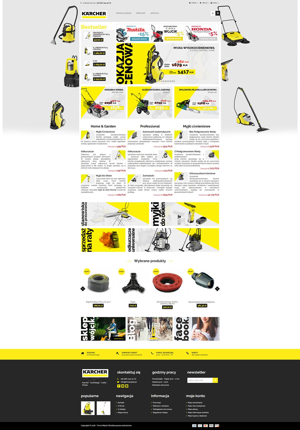 Strona www dla sklepu internetowego
