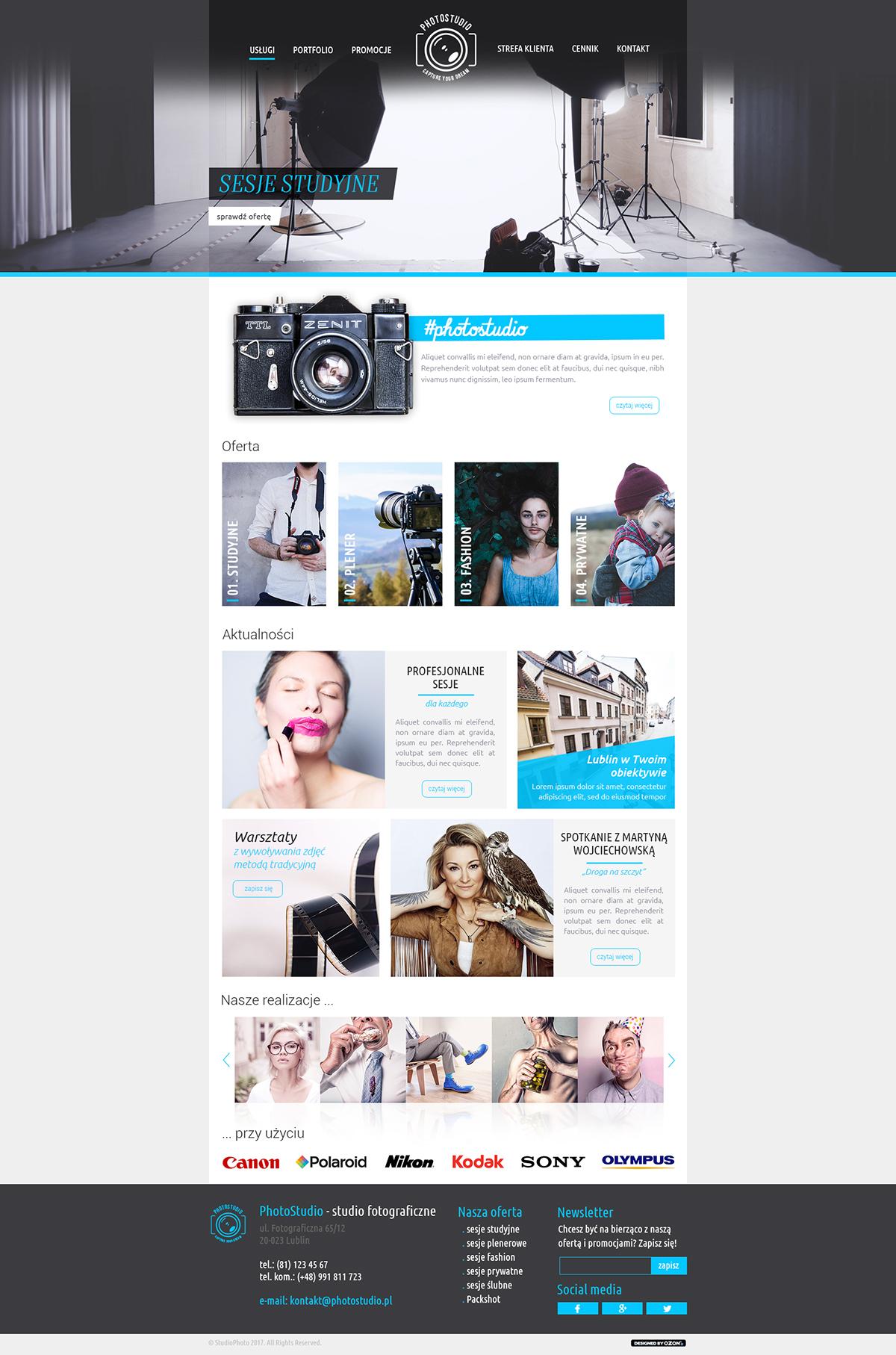 Strona www dla studia fotograficznego